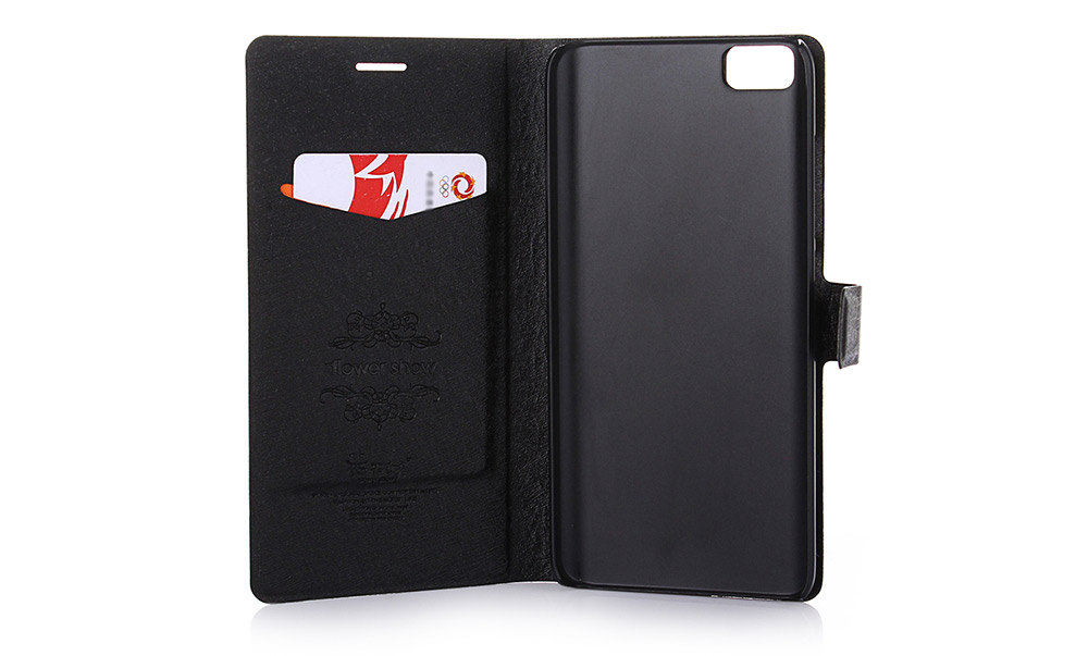 ASLING PU Leather Flip-open Style Full Body Protective Case for Xiaomi 5 with Credit Card Slot Phone Stand Holder