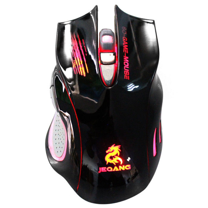 JEQANG JM-1969 Wired Professional 7 Color Dazzle Light Gaming Optical Mouse