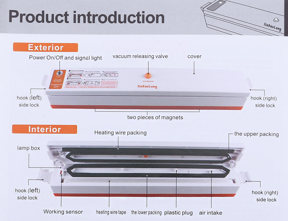 XinBaoLong QH - 01 Automatic Electric Vacuum Food Sealer Machine