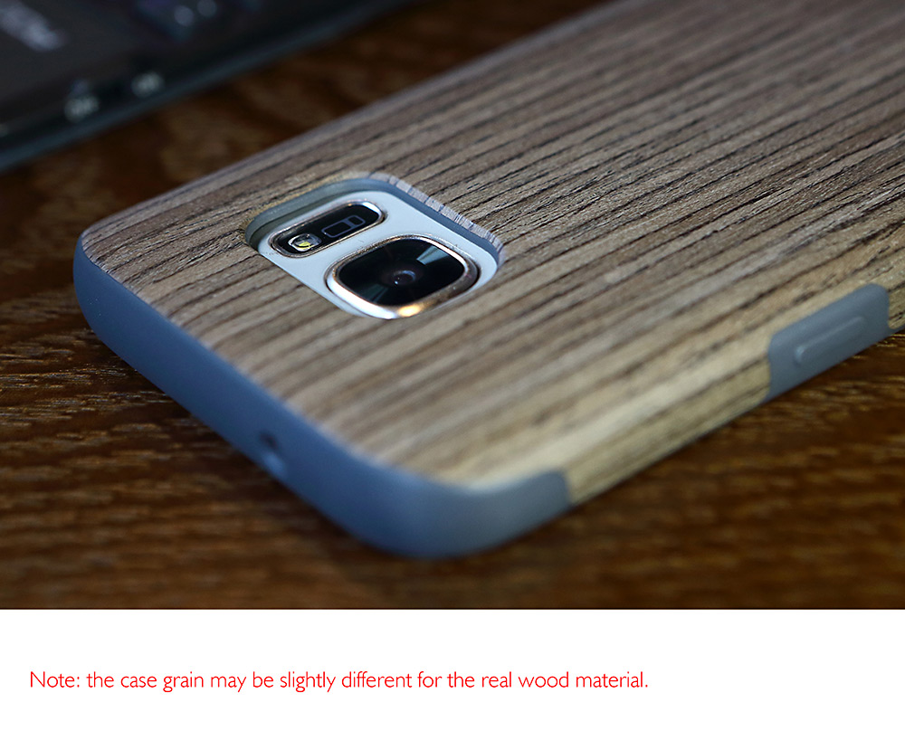 ROCK Elements Series Protective Back Case for Samsung Galaxy S7 Wood Grain Pattern Mobile Protector