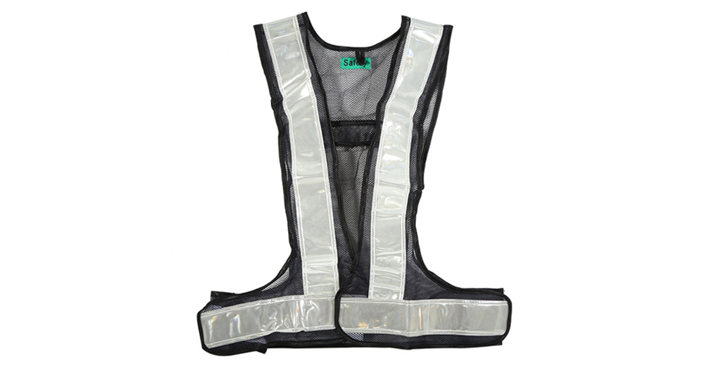 Outdoor Night Cycling Sports Reflective Vest Waist Chest Nylon Hook and Loop Fastener Design