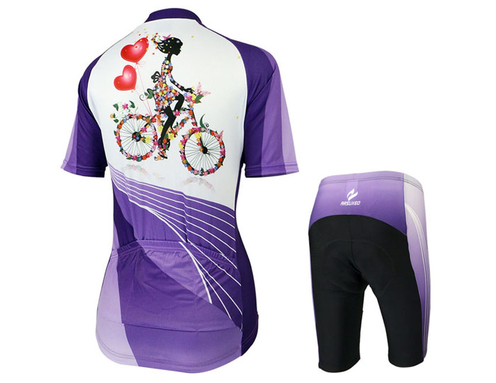 Arsuxeo ZSS33 Cycling Short Sleeve Suit for Women