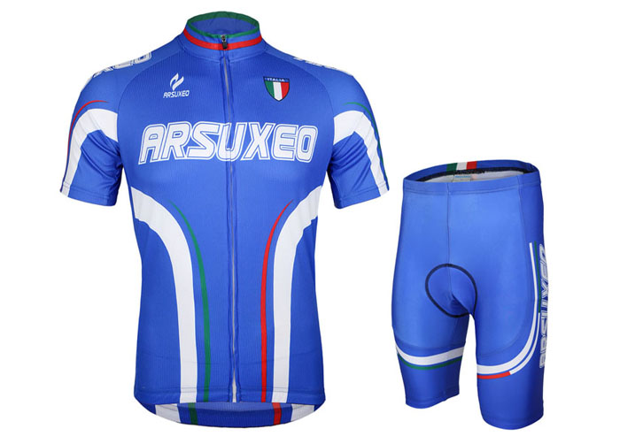 Arsuxeo ZSS54 Cycling Short Sleeve Suit for Men