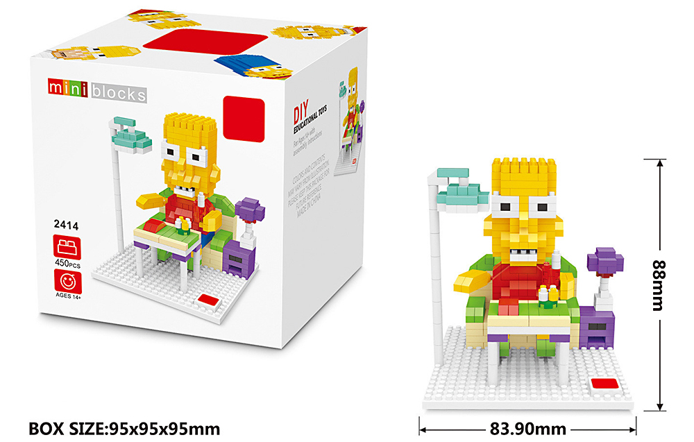 LOZ Cartoon Figure Building Block Intelligence Toy for Kid