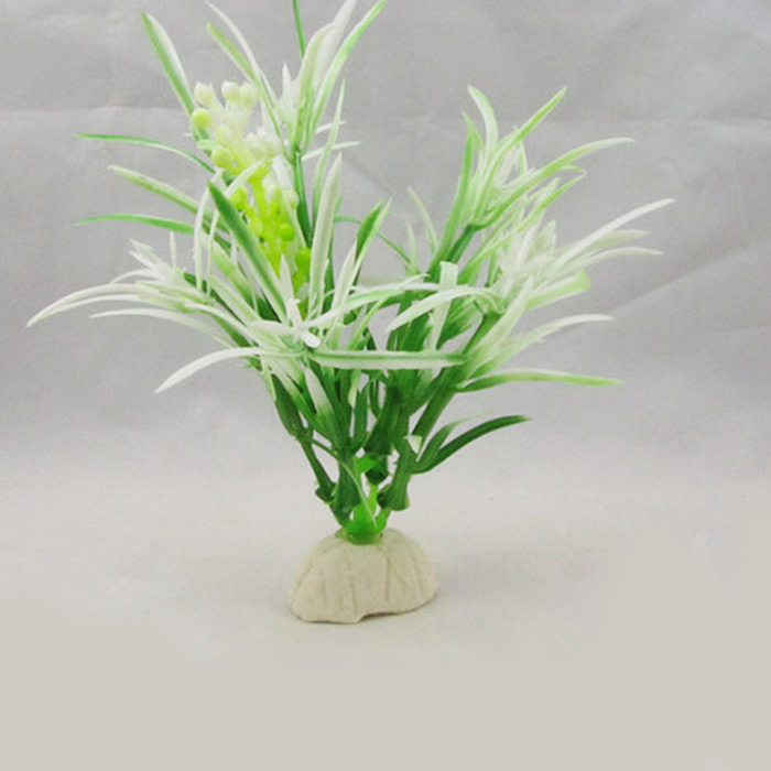 Aquarium Plastic Aquatic Plant Decors for Fish Tank