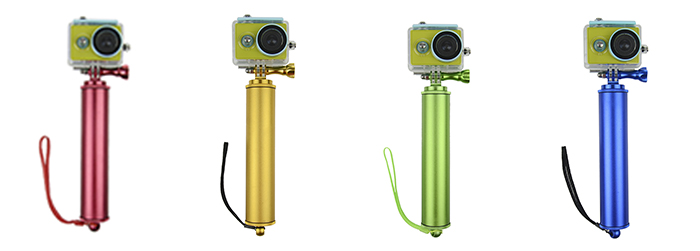 Aluminum Alloy Floaty Grip with Waterproof Housing Case Cover for Xiaomi Yi Action Camera