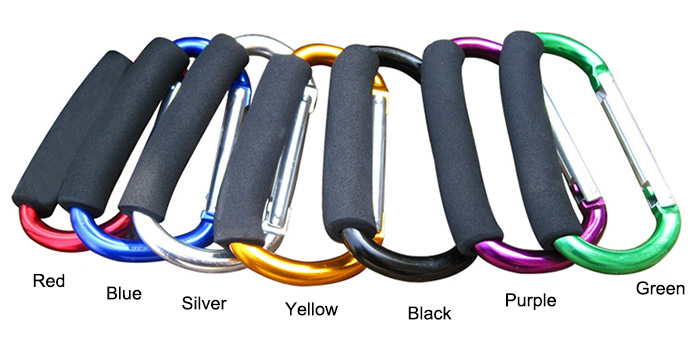 AOTU AT7607 Quick Release D - shaped Carabiner Buckle Clip for Outdoor Hiking Camping