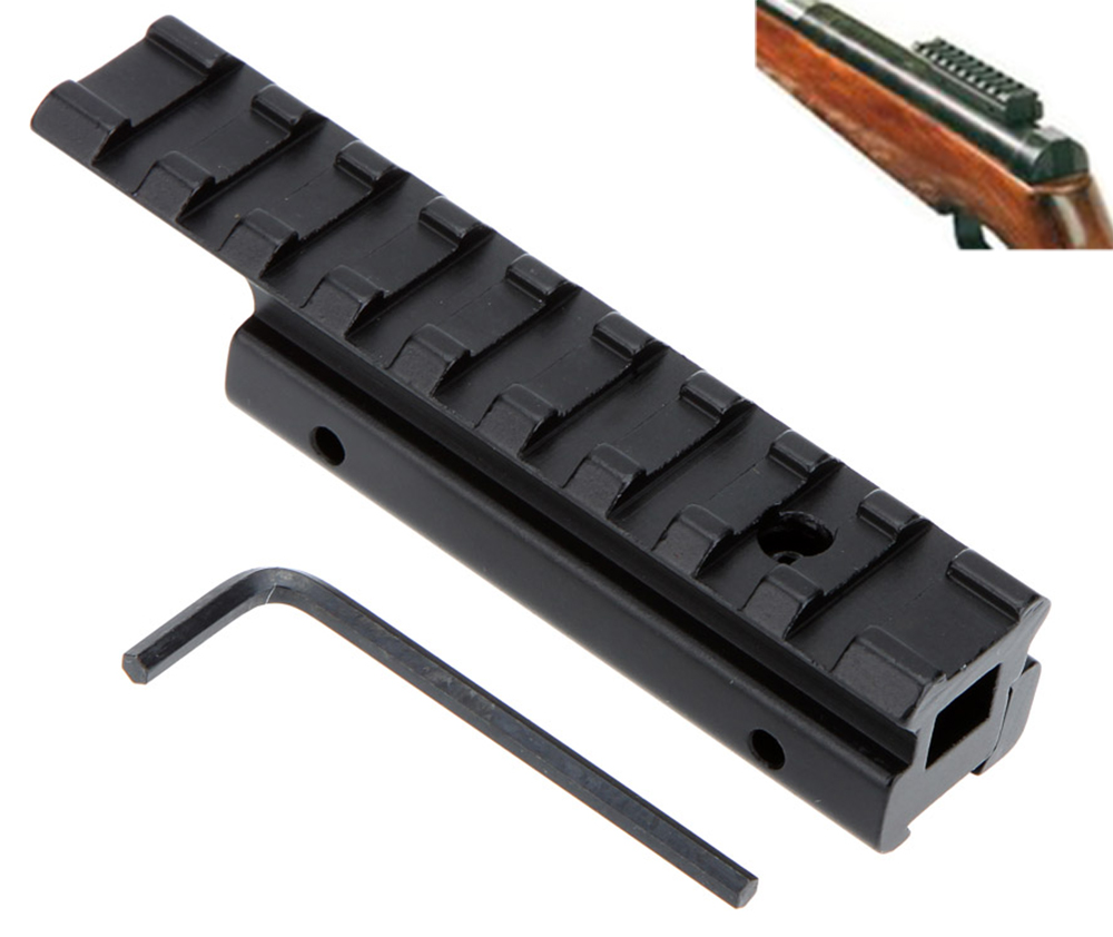 Tactical Dovetail Picatinny Weaver Riser Rail Adapter 11mm to 20mm Hunting Scope Mount