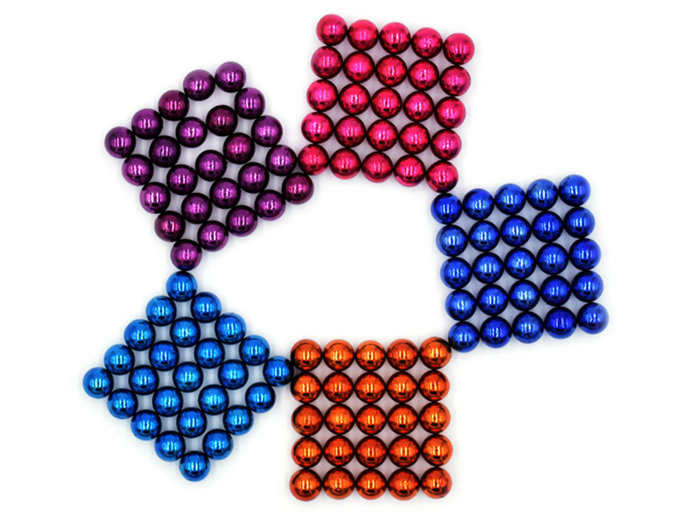 DECAKER 5mm 125Pcs NdFeB Magnetic Bead Novelty Educational Toy for Children