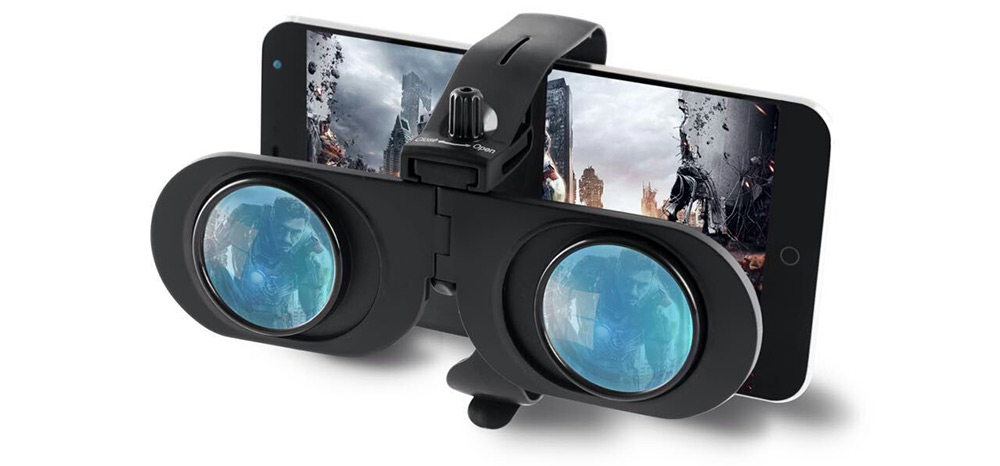 Portable Foldable Virtual Reality 3D Glasses 120 Degrees FOV for 4 - 6 inch Mobile Phones