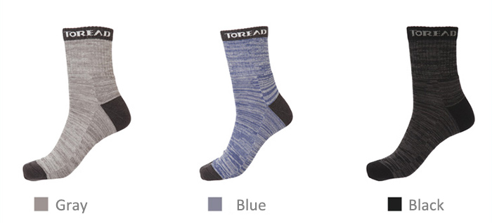 TOREAD Men Mid Calf Athletic Socks Sweat Absorbing for Sports