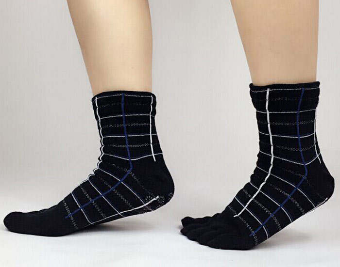 Five Toes Ankle Protection Cotton Socks for Yoga