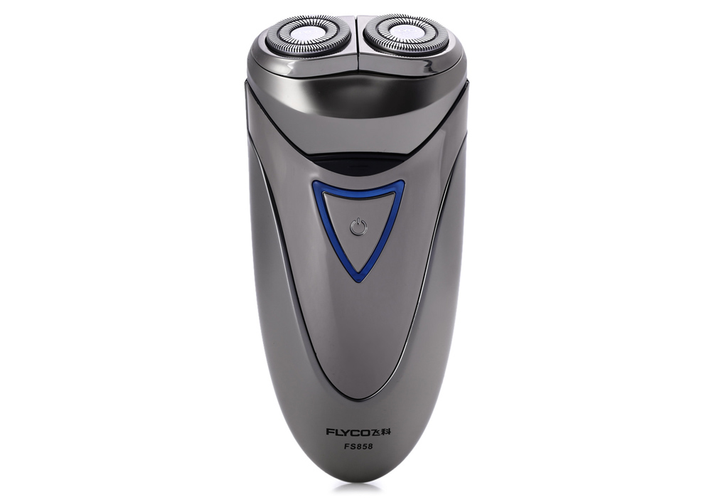 FLYCO FS858 Dual Floating Head Electric Shaver Whole Body Washable Cordless Razor with Pup-up Trimmer
