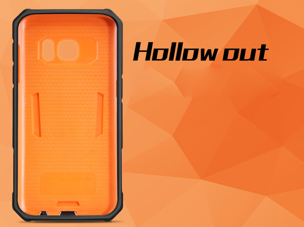 Nillkin Defender II Protective Back Cover Case for Samsung Galaxy S7 Hollow-carved Design Mobile Protector