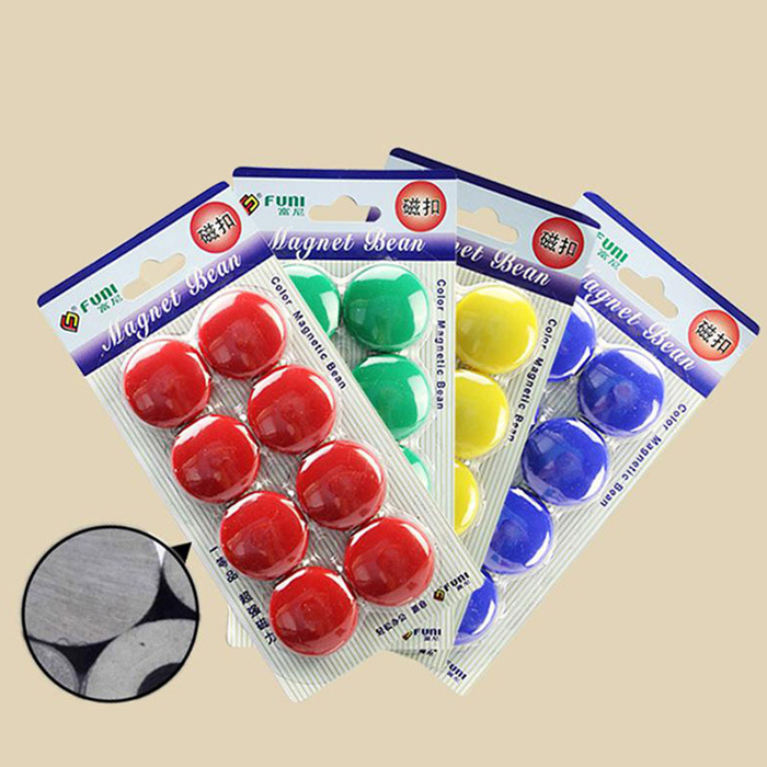 FUNI CT-17 Office Round Magnets Home Decoration - 8PCS