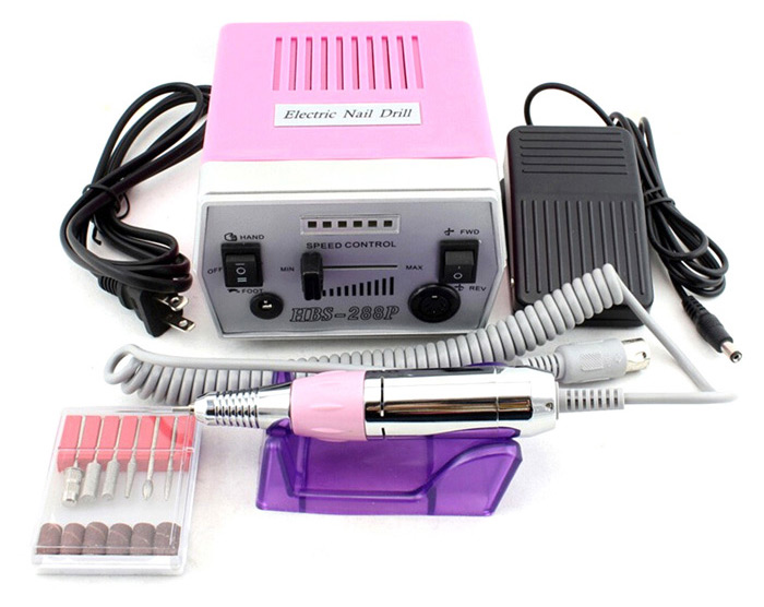 HBS-288P Professional Electric Nail Drill Machine Manicure Pedicure Art Grinding Tool Set