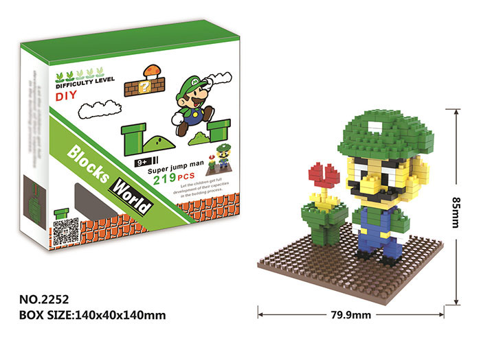 2252 219Pcs Game Figure Style ABS Building Block Educational Movie Product Kid Toy