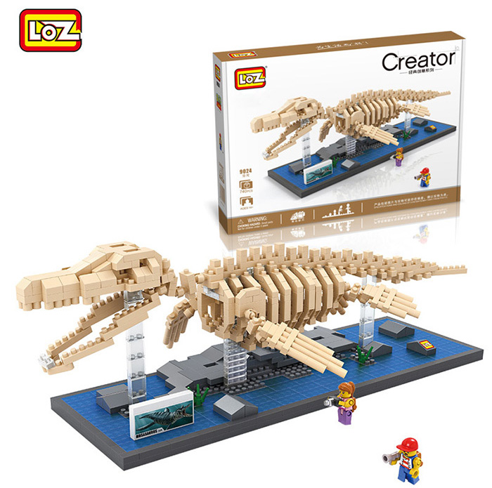 LOZ 9024 ABS 740Pcs Mosasaurs Building Block Educational Toy Birthday Present