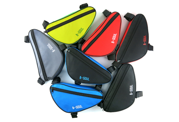B-SOUL 1.5L Bicycle Front Tube Triangle Bag Outdoor Cycling Accessories