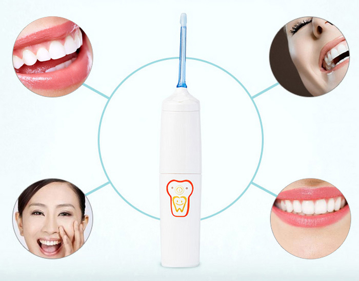 HKS-301C Portable Electric Oral Irrigator Dental SPA Water Jet Floss Pick Teeth Cleaning Flusher