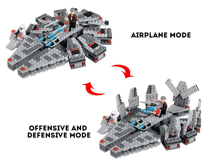 260Pcs Military Falcon Building Block Educational Toy for Intelligence Development Birthday Gift