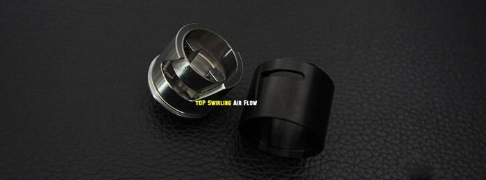 Original Cthulhu Hastur RDA 2S Atomizer with Velocity Posts / 5mm Juice Well / Swirling Airflow Rebuildable Dripping Atomizer