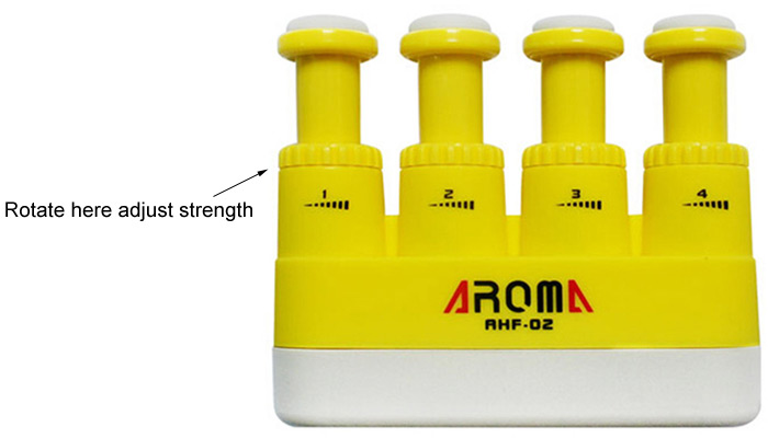 Aroma AHF - 02 Small Size Guitar Hand Finger Exerciser Adjustable Tension for Kid