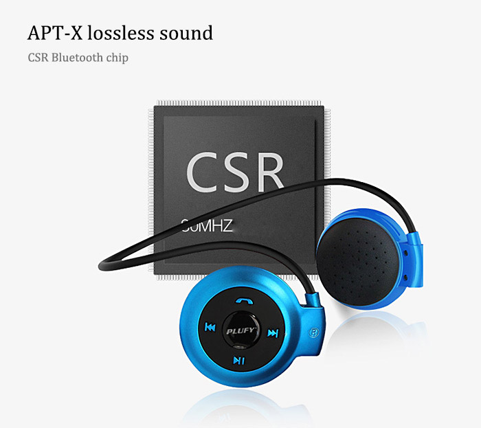 Plufy L7 Bluetooth V4.1 Wireless Sport Headphone FM Function Support TF Card for Smartphone Tablet PC