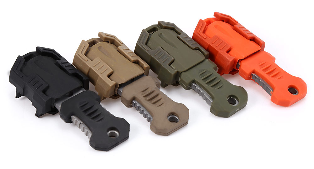 EDC Gear Outdoor Mini Stainless Steel Molle Webbing Buckle Survival Pocket Knife