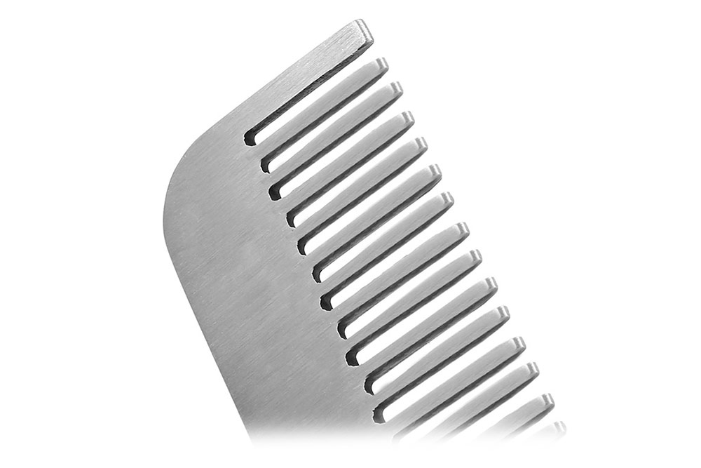 EDC Gear Pocket Outdoor Survival Matte Minimalist Engraved Stainless Steel Tactical Comb