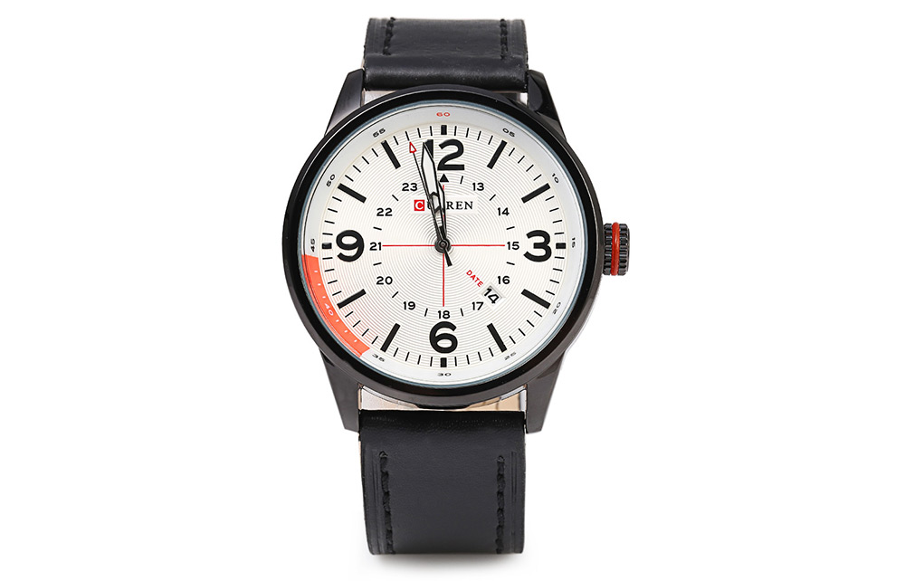 CURREN 8215 Business Style Male Quartz Watch with Date Showing