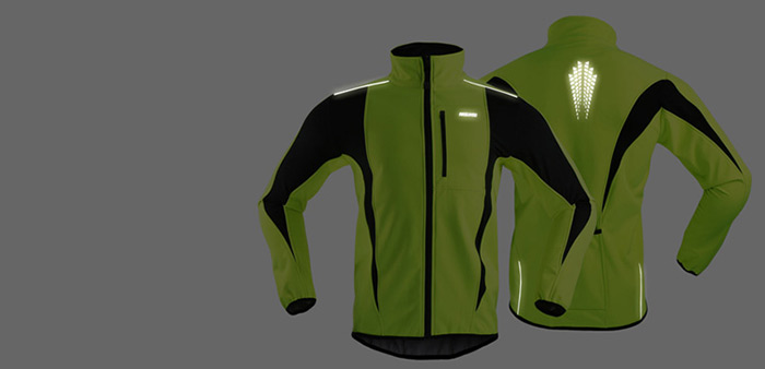 ARSUXEO 15-K Water Resistant Windproof Long Sleeve Cycling Coat for Outdoor Sports