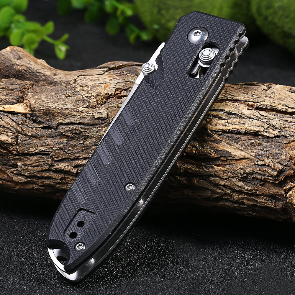 Ganzo G746-1-GR 440C Stainless Steel Blade Axis Lock Folding Knife