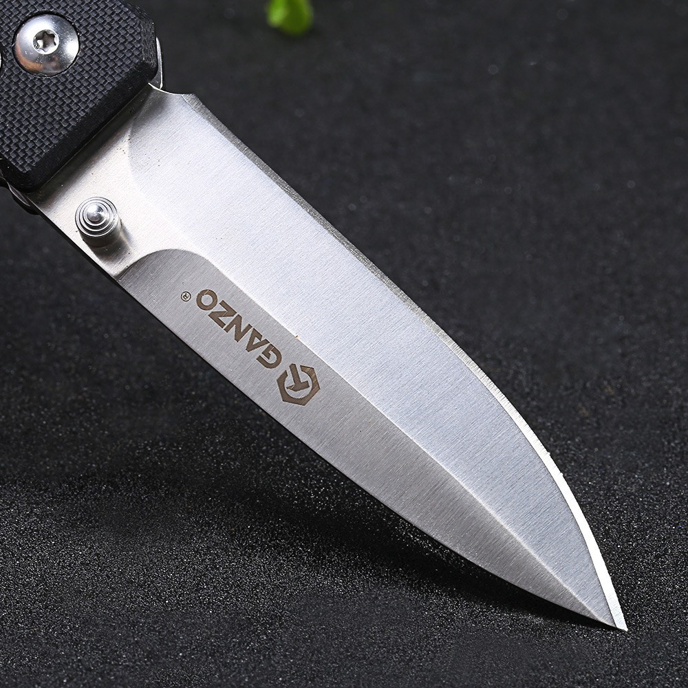 Ganzo G746-1-BK 440C Stainless Steel Blade Axis Lock Folding Knife