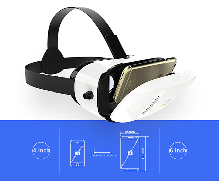 Rock Virtual Reality 3D VR Glasses Kits 95 Degrees FOV Panorama Immersive Experience