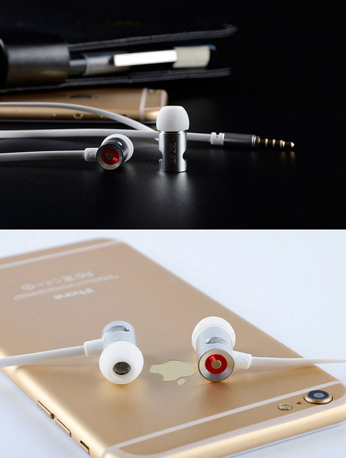 DZAT DR-10 Super Bass HiFi Music In-ear Earphones with Mic Drive-by-wire for Smartphones / Tablets / MP3 / MP4