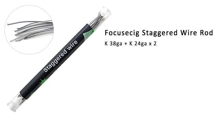 Original Focusecig Staggered Wire Rod with 10pcs Atomizer Resistance Wire Per Rod for E Cigarette