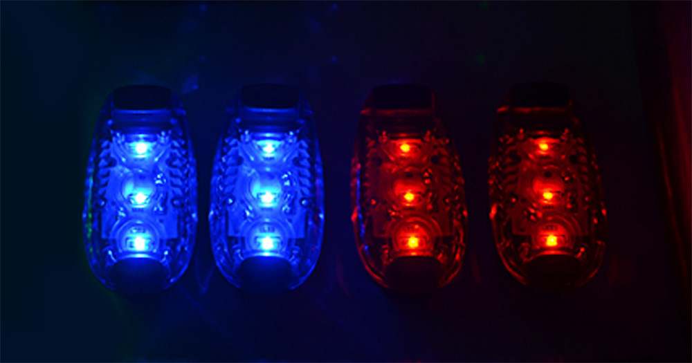 3 LEDs Safety Warning Light with Clip for Walking Running Cycling