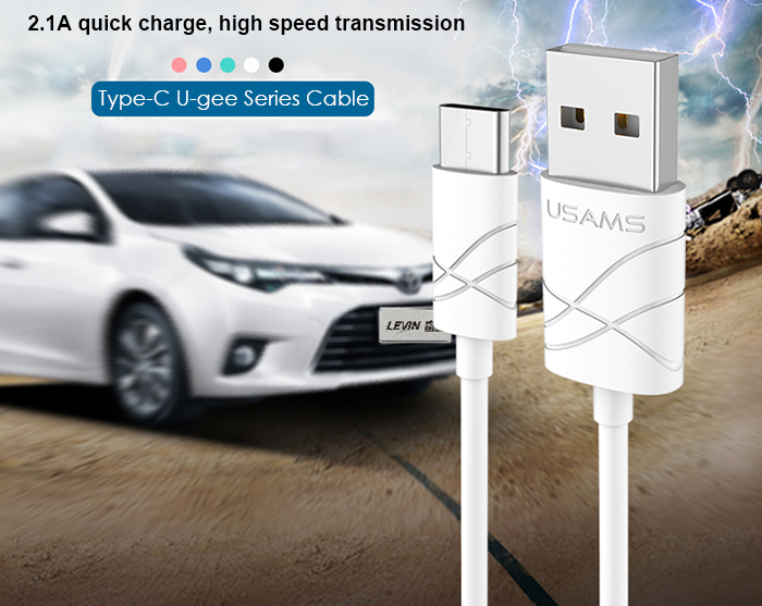 USAMS U-gee Series US SJ039 Type-C to USB Data Transfer and Charging Cable - 1m