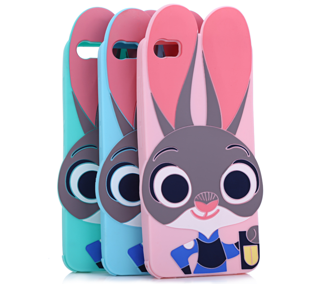 Cartoon Rabbit Pattern Protective Back Cover Case for Xiaomi 5 Silicone Soft Mobile Shell with Button Protection
