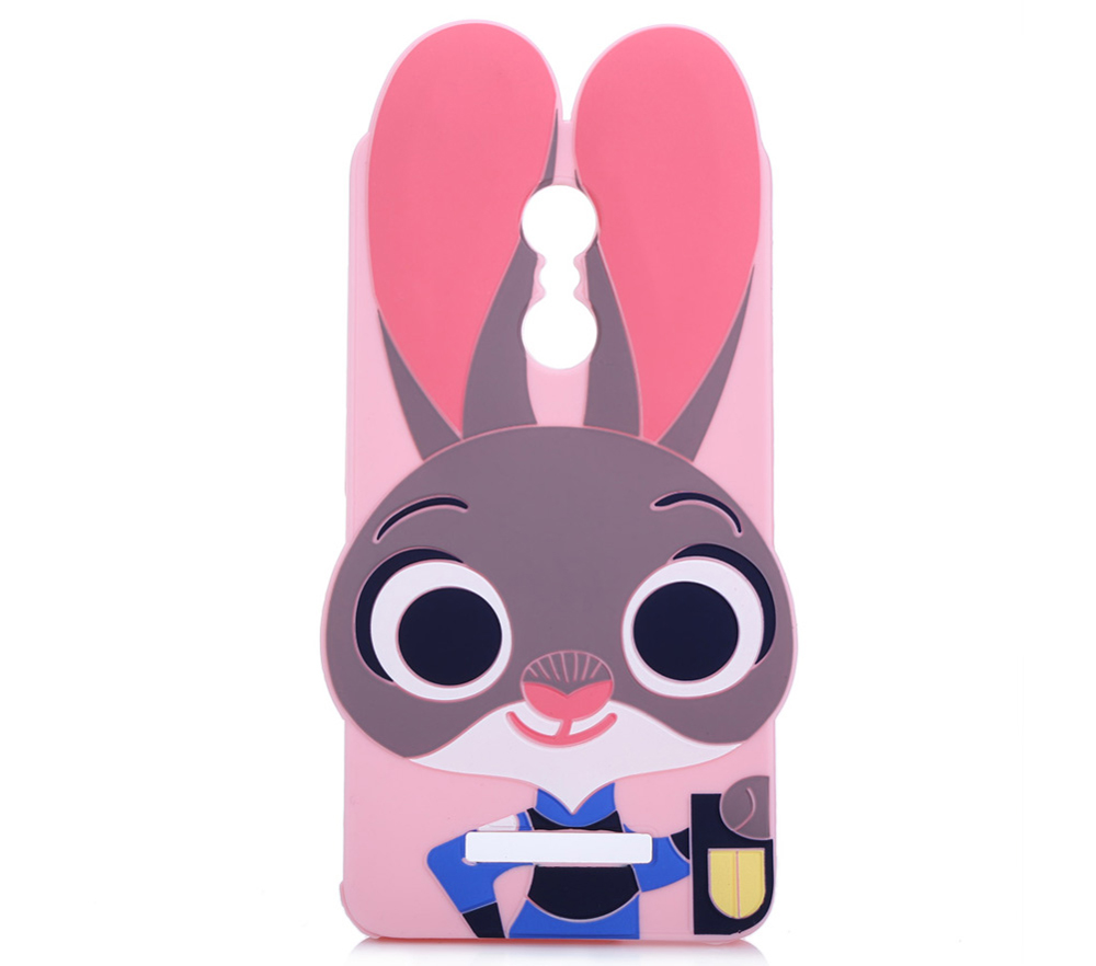 Cartoon Rabbit Pattern Protective Back Cover Case for Xiaomi Redmi Note 3 Silicone Soft Mobile Shell with Button Protection