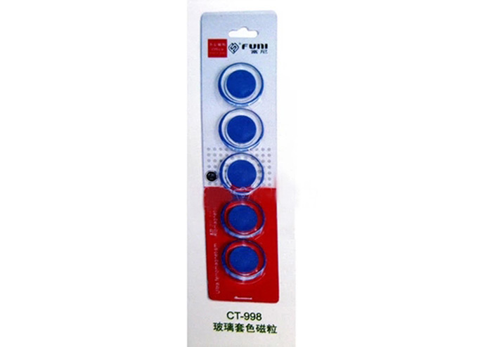 FUNI CT-998 Round Magnetic Whiteboard Stickers 5PCS for Office