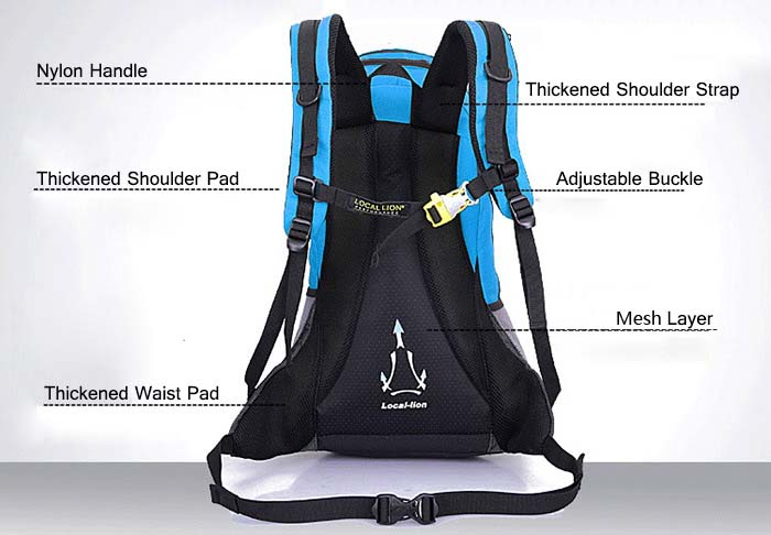LOCAL LION 20L Nylon Climbing Backpack for Outdoor Travel