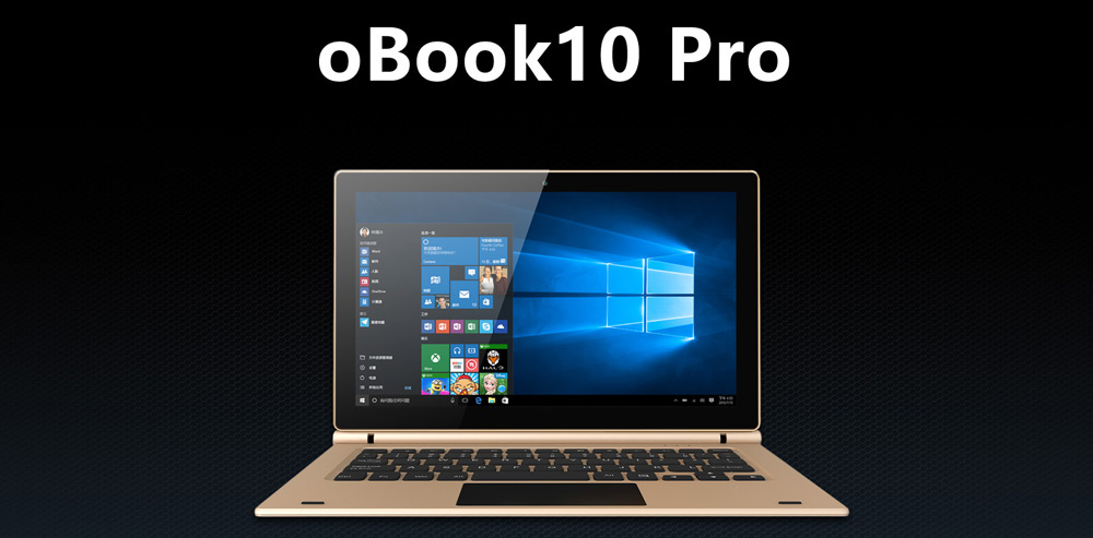 Onda oBook10 Pro Tablet PC 10.1 inch Windows 10 IPS Screen Intel Cherry Trail Z8700 64bit Quad Core 1.6GHz 4GB RAM 64GB ROM