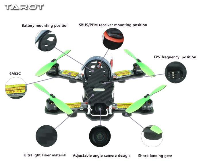 TAROT 130 TL130H1 Mini FPV Racing Drone with Brushless Motor
