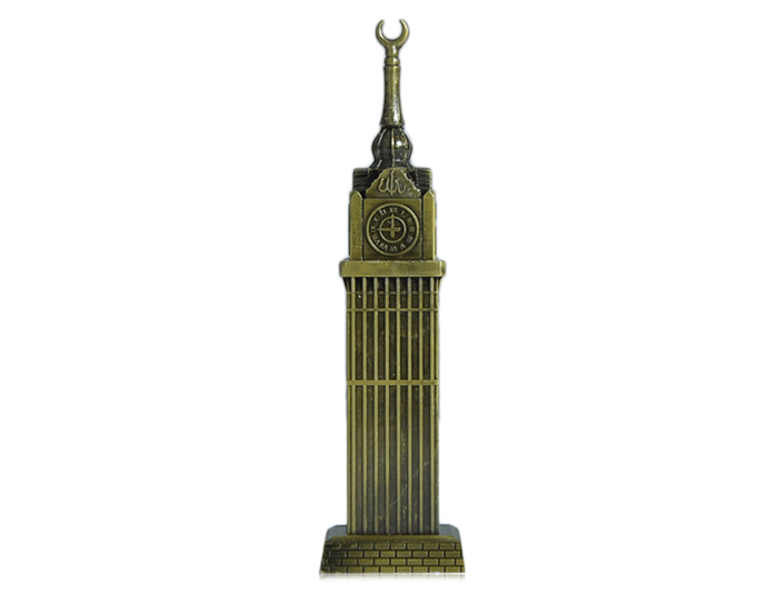 DECAKER Mecca Royal Clock Tower Landmark Building Model Aluminum Alloy Architecture Decoration