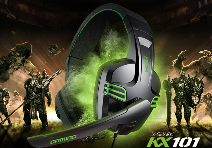 SALAR KX101 Gaming Headsets Super Bass with Mic Support Hands-free Call Voice Control for Game Player