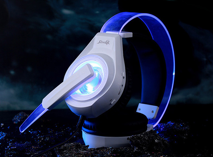 SENICC G241 Gaming Headsets Super Bass with Mic LED Light Call Voice Control for Game Player