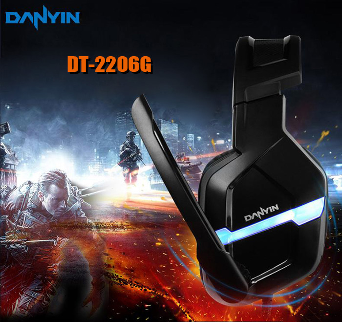 DANYIN DT2206G Gaming Headsets Super Bass with Mic LED Light Call Voice Control for Game Player