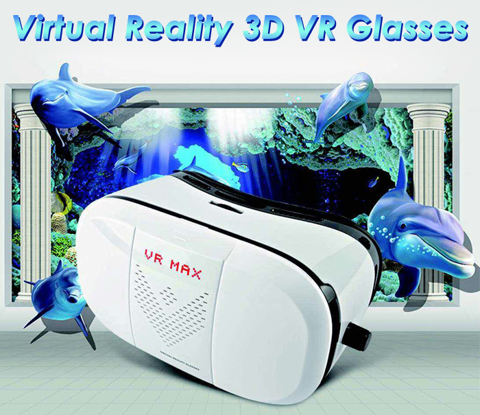 VR MAX Virtual Reality 3D Glasses with 98 Degrees FOV IPD Adjustment for 4 - 6 inch Smartphones